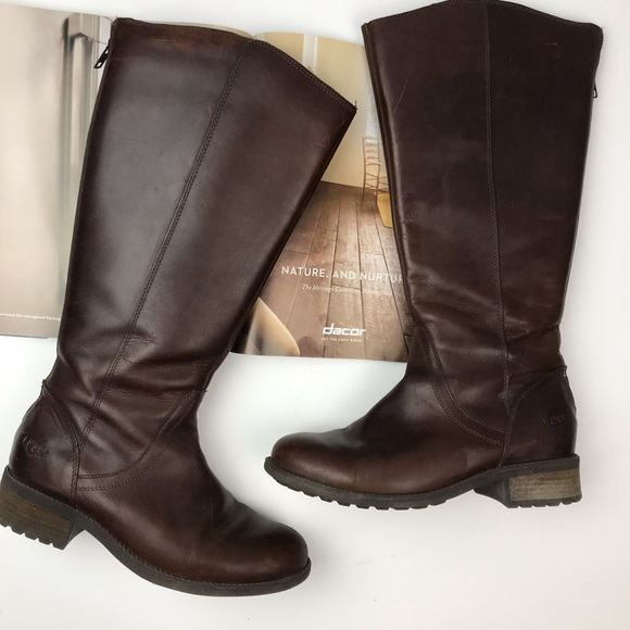 e40d15bcc6d UGG | Brown Seldon Leather Tall Boots